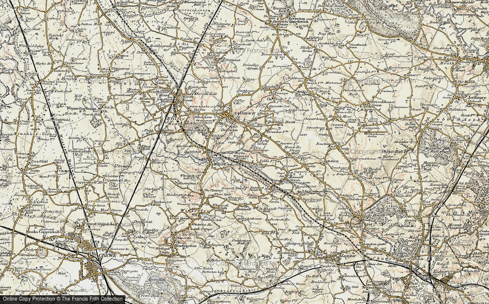 Old Map of Malkin's Bank, 1902-1903 in 1902-1903