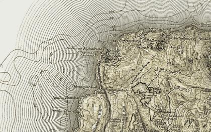 Old map of Leachd an Nostarie in 1906-1908