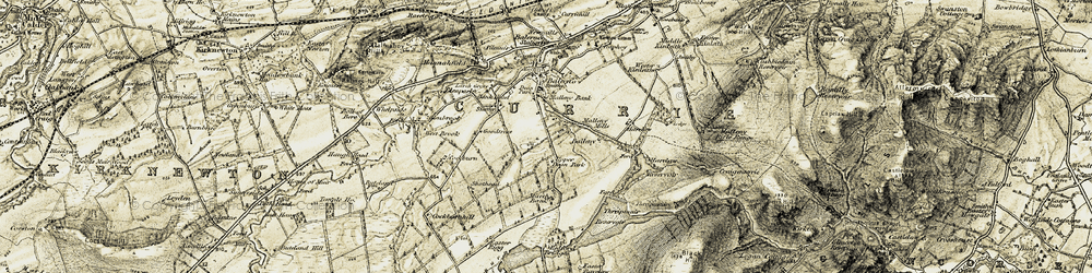 Old map of Wester Bavelaw in 1903-1904