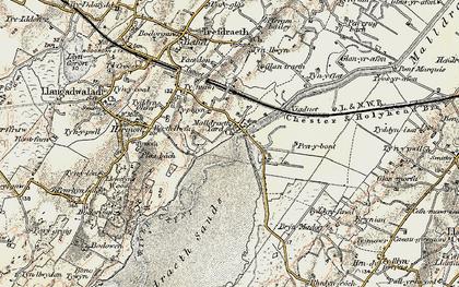 Old map of Malltraeth in 1903-1910