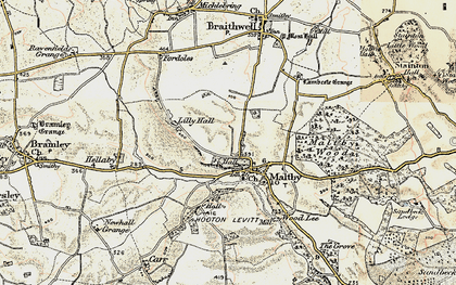 Old map of Maltby in 1903