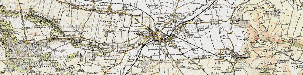 Old map of Malton in 1903-1904