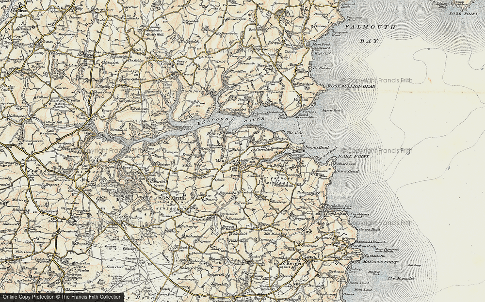 Old Map of Manaccan, 1900 in 1900