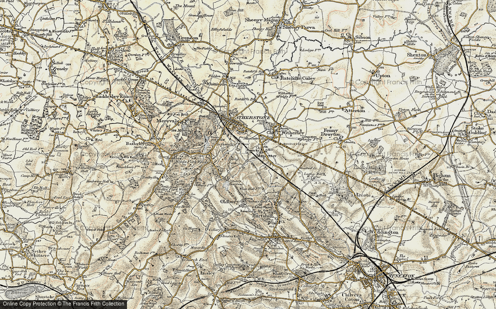 Old Map of Mancetter, 1901-1903 in 1901-1903