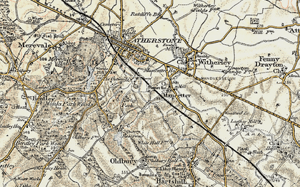 Old map of Mancetter in 1901-1903