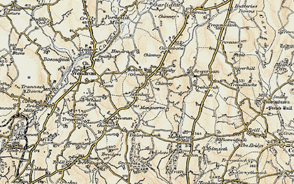 Old map of Manhay in 1900