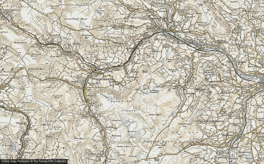 Old Map of Mankinholes, 1903 in 1903