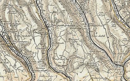 Old map of Manmoel in 1899-1900