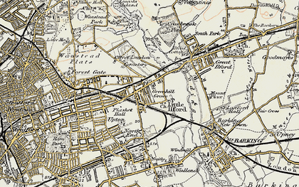 Old map of Manor Park in 1897-1902