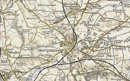 Old map of Mansfield in 1902-1903