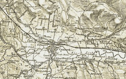 Old map of West Polquhirter in 1904-1905