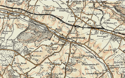 Old map of Mantles Green in 1897-1898