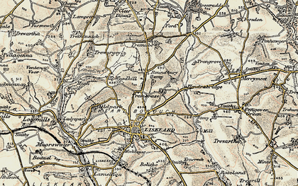 Old map of Addington in 1900