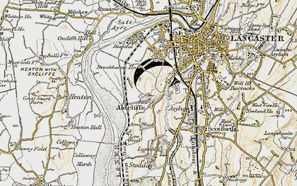 Old map of Aldcliffe in 1903-1904