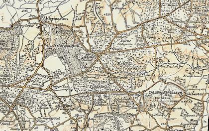 Old map of Aldermaston Soke in 1897-1900