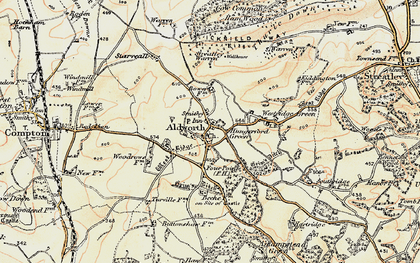Old map of Aldworth in 1897-1900
