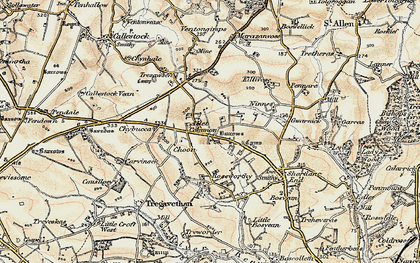 Old map of Allet in 1900