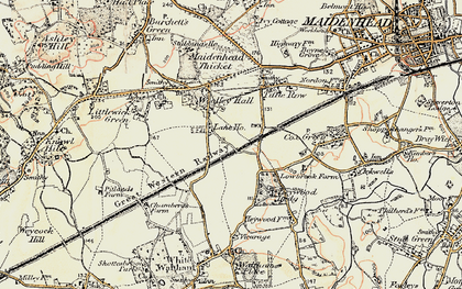 Old map of Altmore in 1897-1909