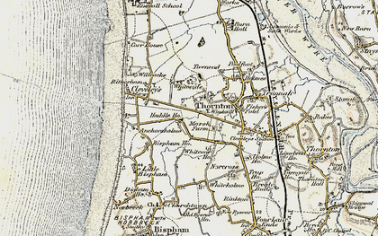 Old map of Anchorsholme in 1903-1904