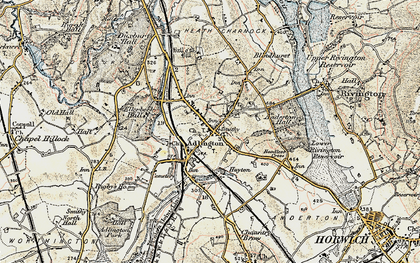 Old map of Anderton in 1903