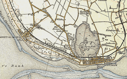 Old map of Ansdell in 1903