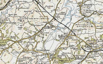 Old map of Arkholme in 1903-1904