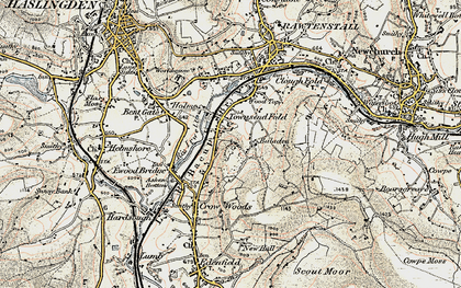 Old map of Balladen in 1903