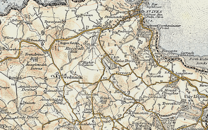 Old map of Balnoon in 1900