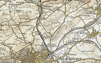 Old map of Bank Hey in 1903