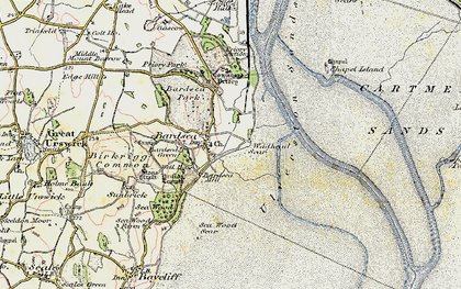 Old map of Bardsea in 1903-1904