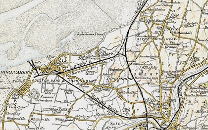 Old map of Bare in 1903-1904