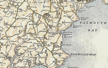 Old map of Bareppa in 1900