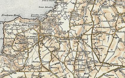 Old map of Barkla Shop in 1900