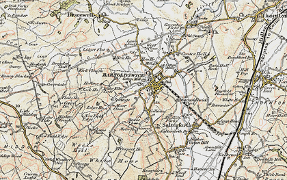 Old map of Barnoldswick in 1903-1904