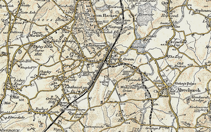 Old map of Barnt Green in 1901-1902