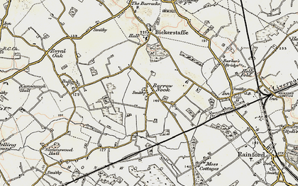 Old map of Barrow Nook in 1902-1903