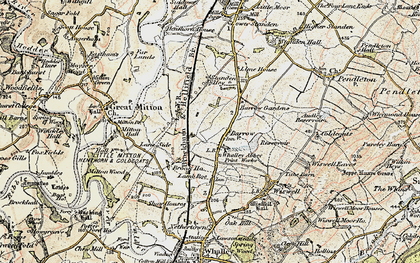 Old map of Barrow in 1903-1904