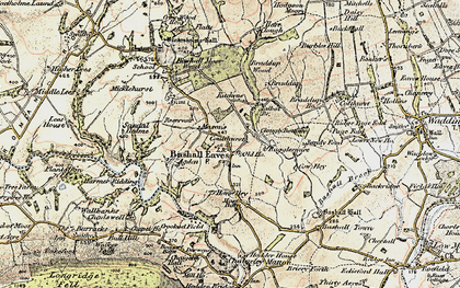 Old map of Bashall Eaves in 1903-1904