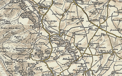 Old map of Bathpool in 1900