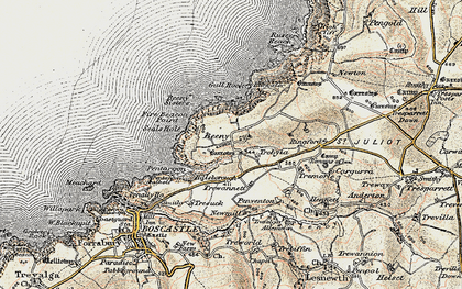 Old map of Beeny in 1900