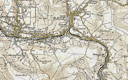 Old map of Belgrave in 1903