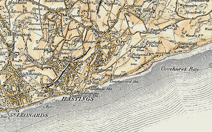 Old map of Belmont in 1898