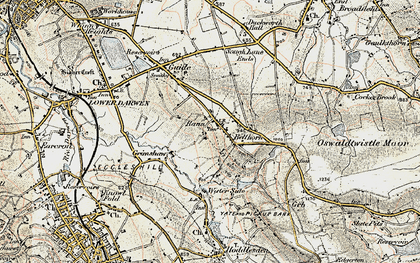 Old map of Belthorn in 1903