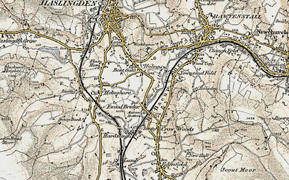 Old map of Bent Gate in 1903