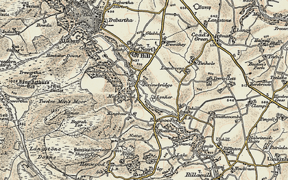 Old map of Berriowbridge in 1900