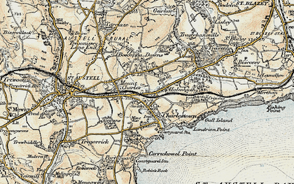 Old map of Bethel in 1900