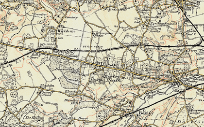 Old map of Bexleyheath in 1897-1902