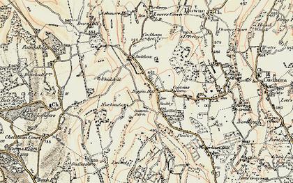 Old map of Biggin Hill in 1897-1902