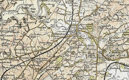 Old map of Billington in 1903-1904