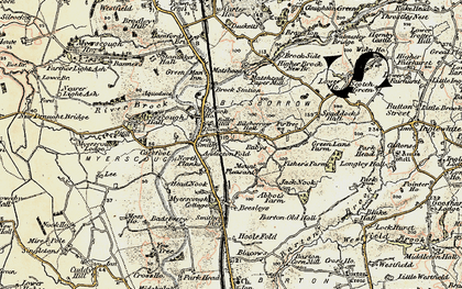 Old map of Bilsborrow in 1903-1904